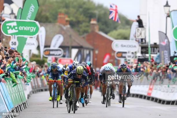14th Tour of Britain 2017 / Stage 6 Arrival / Caleb EWAN / Fernando GAVIRIA / Alexander KRISTOFF European Champion Jersey / Andrea PASQUALON / Sprint...