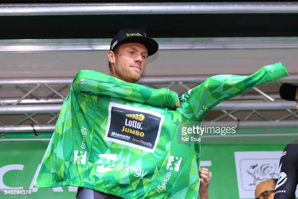 14th Tour of Britain 2017 / Stage 8 Podium / Lars BOOM Green Leader Jersey / Worcester Cardiff / OVO Energie / TOB /