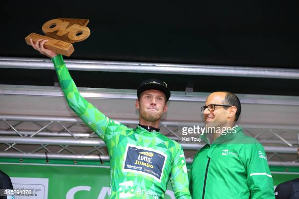 14th Tour of Britain 2017 / Stage 8 Podium / Lars BOOM Green Leader Jersey / Celebration / Worcester Cardiff / OVO Energie / TOB /