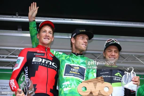 14th Tour of Britain 2017 / Stage 8 Podium / Stefan KUNG / Lars BOOM Green Leader Jersey / Edvald BOASSON HAGEN / Celebration / Trophy / Worcester...