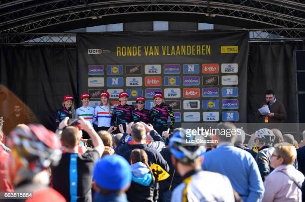14th Tour of Flanders 2017 / Women Podium / Pauline FERRAND PREVOT / Elena CECCHINI / Hannah BARNES / Lisa BRENNAUER / Tiffany CROMWELL / Trixi...