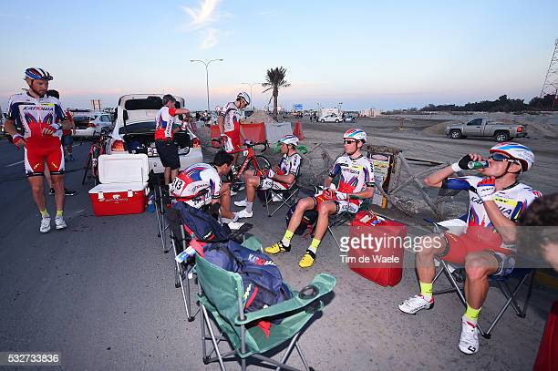 14th Tour of Qatar 2015 / Stage 1 Arrival / KRISTOFF Alexander / KUZNETSOV Viacheslav / Team Katusha / Dukhan Sealine Beach / Etape Rit Ronde/ Tim De...