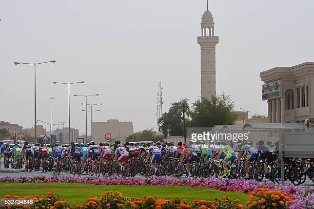 14th Tour of Qatar 2015 / Stage 2 Illustration Illustratie / Peleton Peloton / Mosque Moskee / Landscape Paysage Landschap / Al Wakra - Al Khor...