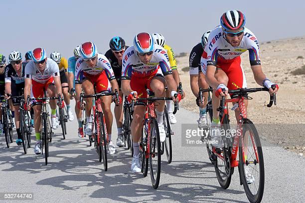 14th Tour of Qatar 2015 / Stage 5 KOZONTCHUK Dmitry / HALLER Marco / KUZNETSOV Viacheslav / KRISTOFF Alexander Silver Grey Point Jersey / Al Zubarah...