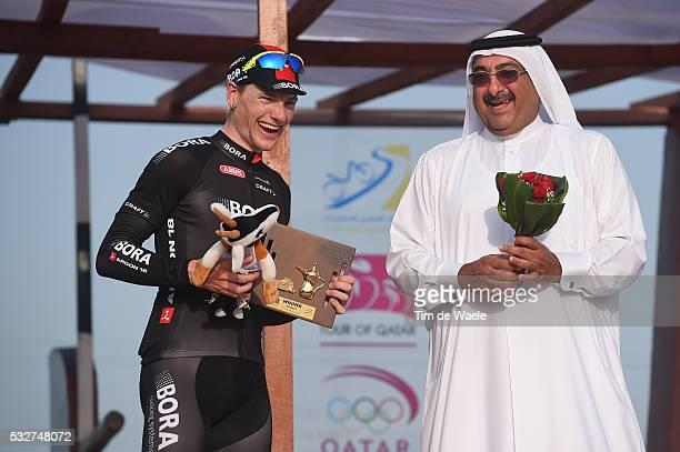 14th Tour of Qatar 2015 / Stage 6 Podium / BENNETT Sam / Sheikh Khalid Bin Ali Al Thani President Qatar Cycling Federation / Celebration Joie Vreugde...