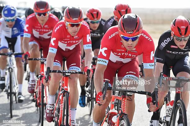 15th Tour of Qatar 2016 / Stage 1 KRISTOFF Alexander / MORKOV Michael / KUZNETSOV Viacheslav / Dukhan - Al Khor Corniche / Etape Rit Ronde/ Tim De...