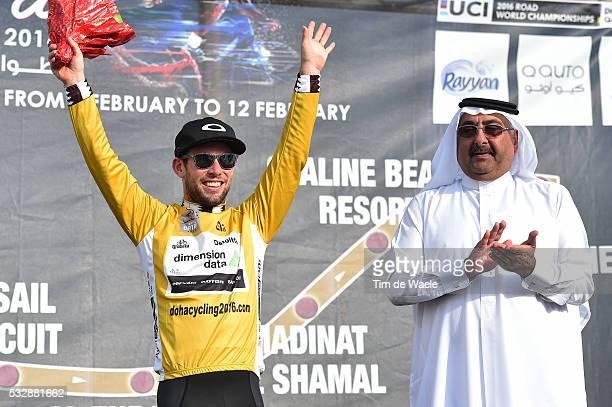 15th Tour of Qatar 2016 / Stage 1 Podium / CAVENDISH Mark Yellow Gold Leader Jersey / Sheikh Khalid Bin Ali Al Thani President Qatar Cycling...