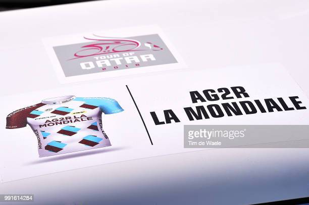 15Th Tour Of Qatar 2016 Stage 2 Illustration Illustratie Wteam Ag2R La Mondiale / Car Voiture Auto Qatar University Qatar University / Test Event...