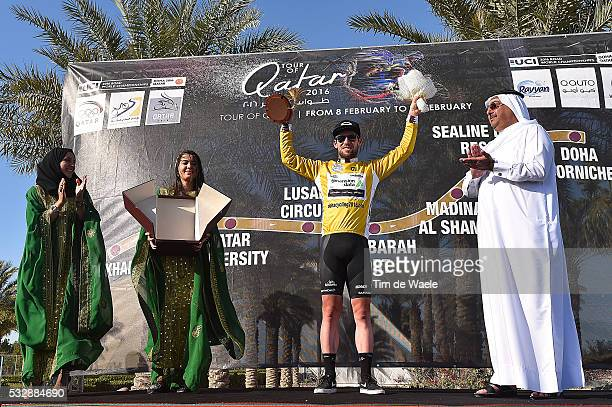15th Tour of Qatar 2016 / Stage 2 Podium / CAVENDISH Mark Gold Yellow Leader Jersey / Sheikh Khalid Bin Ali Al Thani President Qatar Cycling...