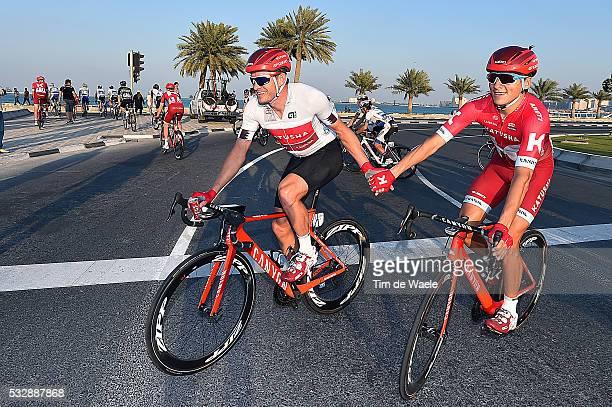 15th Tour of Qatar 2016 / Stage 5 Arrival / KRISTOFF Alexander Silver Grey Points Jersey / KUZNETSOV Viacheslav / Celebration Joie Vreugde / Sealine...