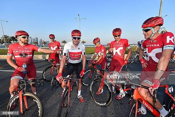 15th Tour of Qatar 2016 / Stage 5 KRISTOFF Alexander / HALLER Marco / GUARNIERI Jacopo / KUZNETSOV Viacheslav / BYSTROM Sven Erik / Celebration Joie...