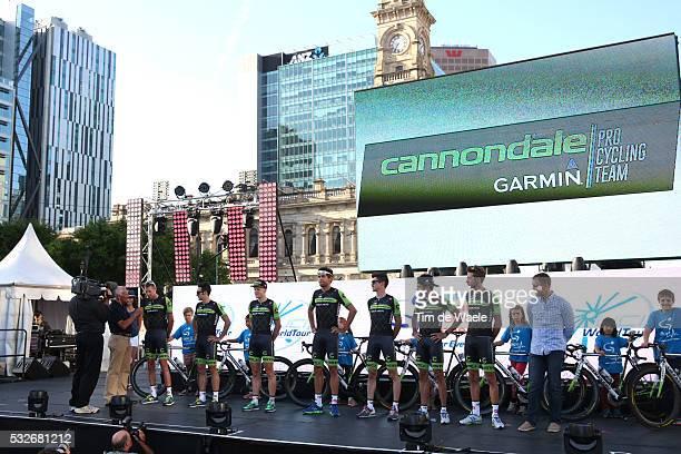 17th Santos Tour Down Under 2015/ Team Presentation Team Cannondale-Garmin Pro/ HESJEDAL Ryder / HAAS Nathan / NORMAN HANSEN Lasse / BAUER Jack /...