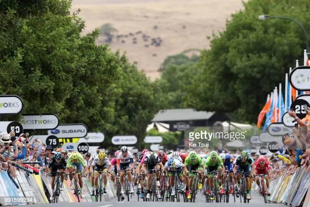 18Th Santos Tour Down Under 2016, Stage 1Arrival, Sprint, Ewan Caleb / Mark Renshaw / Wouter Wippert / Marko Kump / Adam Blythe , Giacomo Nizzolo ,...