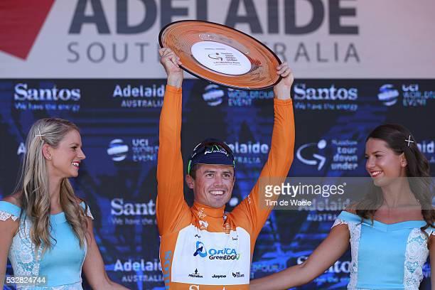 18th Santos Tour Down Under 2016 / Stage 6 Podium / GERRANS Simon Orange Leader Jersey/ Celebration Joie Vreugde / Trophee Trofee Cup / Adelaide...