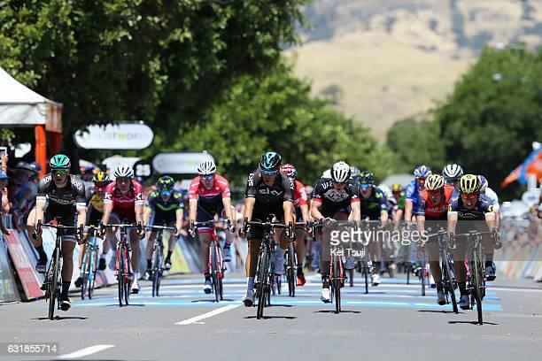19th Santos Tour Down Under 2017/ Stage 1 - Men Arrival / Sprint / Caleb EWAN / Danny VAN POPPEL / Sam BENNETT / Marko KUMP / Unley - Lyndoch /...