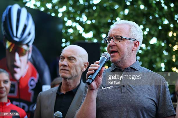 19th Santos Tour Down Under 2017/ Stage 4 Men Georges LUCHINGER Press Officer / BMC Racing Team TAG Heuer / TAG Heuer Watch / Presentation / Norwood...