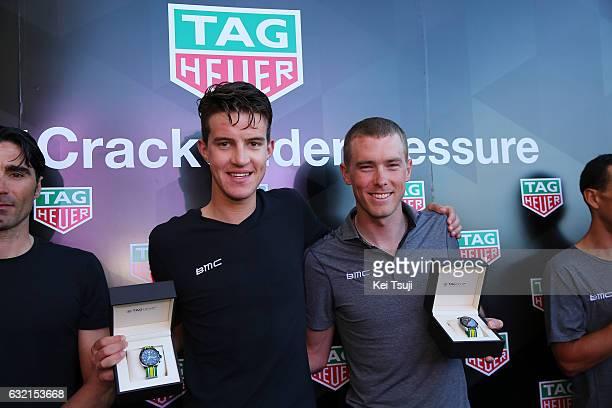 19th Santos Tour Down Under 2017/ Stage 4 Men Miles SCOTSON / Rohan DENNIS / BMC Racing Team TAG Heuer / TAG Heuer Watch / Presentation / Norwood...