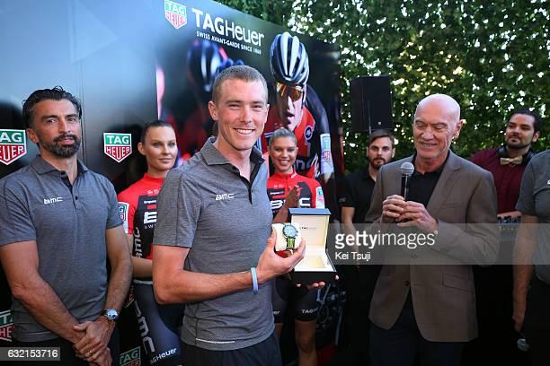 19th Santos Tour Down Under 2017/ Stage 4 Men Rohan DENNIS / Marc BIVER PR TAG Heuer / BMC Racing Team TAG Heuer / TAG Heuer Watch / Presentation /...