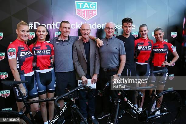 19th Santos Tour Down Under 2017/ Stage 4 Men Rohan DENNIS / Marc BIVER PR TAG Heuer / Georges LUCHINGER Press Officer / Miles SCOTSON / BMC Racing...