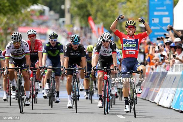 19th Santos Tour Down Under 2017/ Stage 6 - Men Arrival / Caleb EWAN Red Sprint Jersey Celebration / Peter SAGAN / Marko KUMP / Danny VAN POPPEL /...
