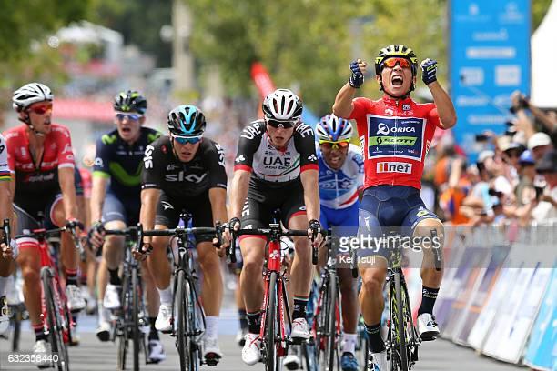 19th Santos Tour Down Under 2017/ Stage 6 - Men Arrival / Sprint / Caleb EWAN Red Sprint Jersey / Peter SAGAN / Marko KUMP / Danny VAN POPPEL /...