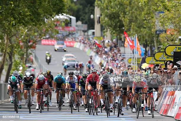 19th Santos Tour Down Under 2017/ Stage 6 - Men Arrival / Sprint / Caleb EWAN Red Sprint Jersey / Peter SAGAN / Marko KUMP / Danny VAN POPPEL / Sean...