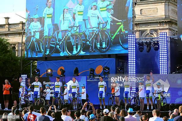 19th Santos Tour Down Under 2017 / Teams Presentation Team UniSAAustralia / Cameron MEYER / Callum SCOTSON / Lucas HAMILTON / Michael STORER / Jai...