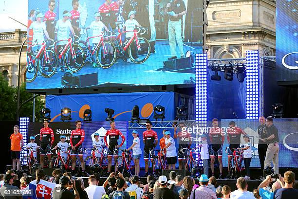 19th Santos Tour Down Under 2017 / Teams Presentation Team TREKSegafredo / Laurent DIDIER / Koen DE KORT / Edward THEUNS / Ruben GUERREIRO /...