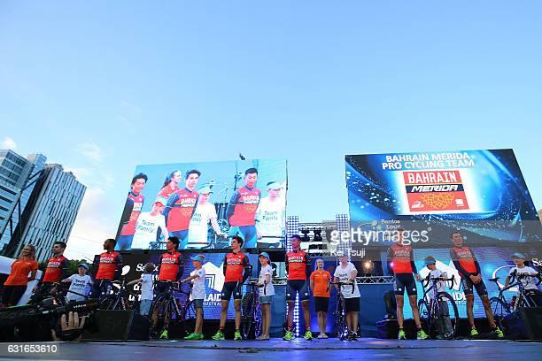 19th Santos Tour Down Under 2017 / Teams Presentation Team Bahrain Merida / Giovanni VISCONTI / Tsgabu GRMAY / Yukiya ARASHIRO / Niccolo BONIFAZIO /...