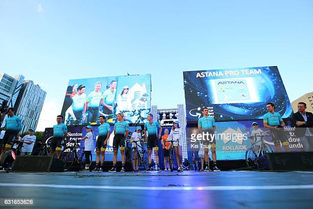 19th Santos Tour Down Under 2017 / Teams Presentation Team Astana / Luis Leon SANCHEZ GIL / Paolo TIRALONGO / Oscar GATTO / Michael VALGREN / Matti...
