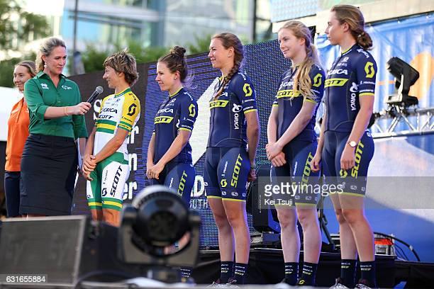 19th Santos Tour Down Under 2017 / Teams Presentation Team ORICA SCOTT / Katrin GARFOOT / Annemiek VAN VLEUTEN / Amanda SPRATT / Jessica ALLEN /...