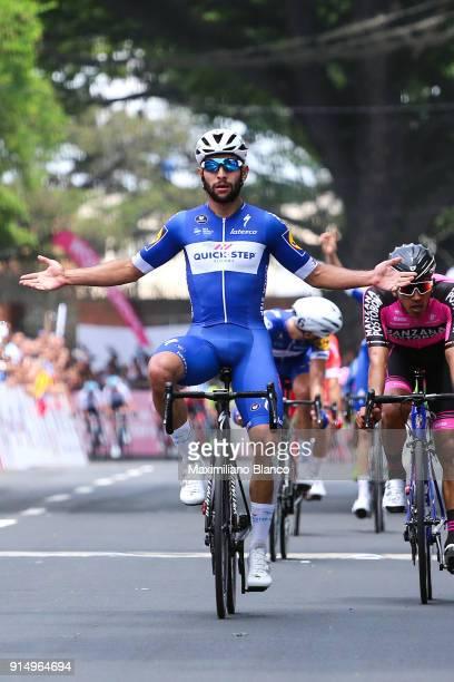 1st Colombia Oro y Paz 2018 / Stage 1 Arrival / Fernando Gaviria Rendon / Celebration / Juan Sebastian Molano Benavides / Palmira Palmira /