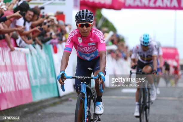 1st Colombia Oro y Paz 2018 / Stage 6 Arrival / Nairo Quintana Pink Leader Jersey / Armenia ManizalesTorre de Chipre 2202m /