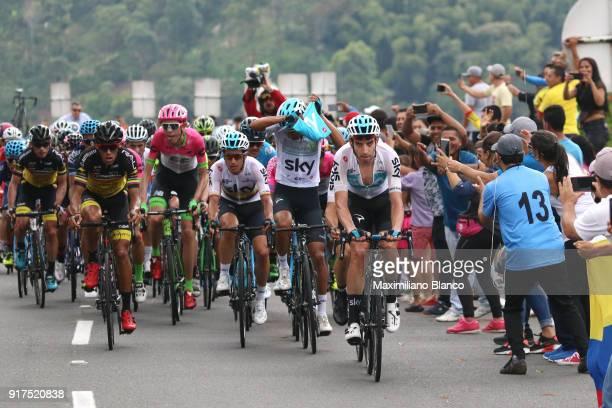 1st Colombia Oro y Paz 2018 / Stage 6 David Lopez Garcia / Sergio Henao Montoya / Armenia ManizalesTorre de Chipre 2202m /