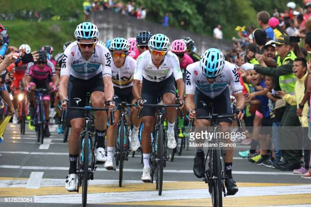 1st Colombia Oro y Paz 2018 / Stage 6 Egan Arley Bernal Gomez White Best Young Rider Jersey / Team SKY / Armenia ManizalesTorre de Chipre 2202m /