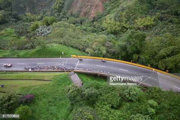 1st Colombia Oro y Paz 2018 / Stage 6 Landscape / Peloton / Armenia ManizalesTorre de Chipre 2202m /