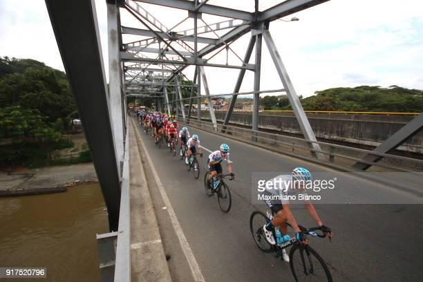 1st Colombia Oro y Paz 2018 / Stage 6 Ream SKY / Peloton / Landscape / Bridge / Armenia ManizalesTorre de Chipre 2202m /