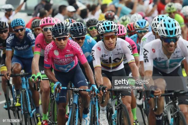1st Colombia Oro y Paz 2018 / Stage 6 Sergio Henao Montoya / Nairo Quintana Pink Leader Jersey / Armenia ManizalesTorre de Chipre 2202m /