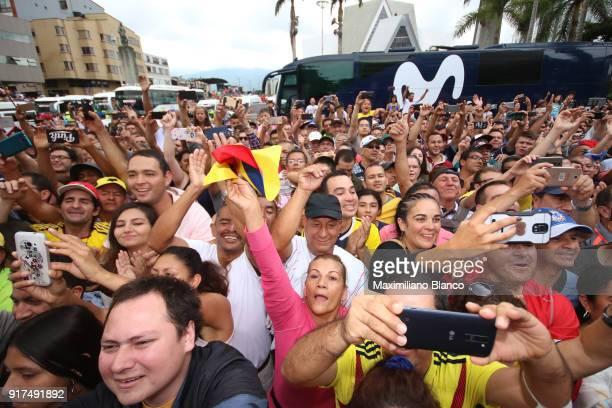 1st Colombia Oro y Paz 2018 / Stage 6 Start / Illustration / Fans / Public / Armenia ManizalesTorre de Chipre 2202m /