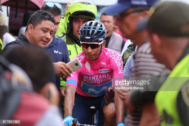 1st Colombia Oro y Paz 2018 / Stage 6 Start / Nairo Quintana Pink Leader Jersey / Fans / Public / Armenia ManizalesTorre de Chipre 2202m /