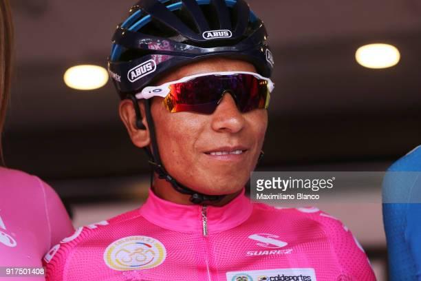 1st Colombia Oro y Paz 2018 / Stage 6 Start / Podium / Nairo Quintana Pink Leader Jersey / Armenia ManizalesTorre de Chipre 2202m /