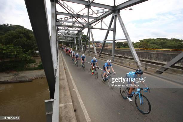 1st Colombia Oro y Paz 2018 / Stage 6 Winner Anacona / Peloton / Landscape / Bridge / Armenia ManizalesTorre de Chipre 2202m /