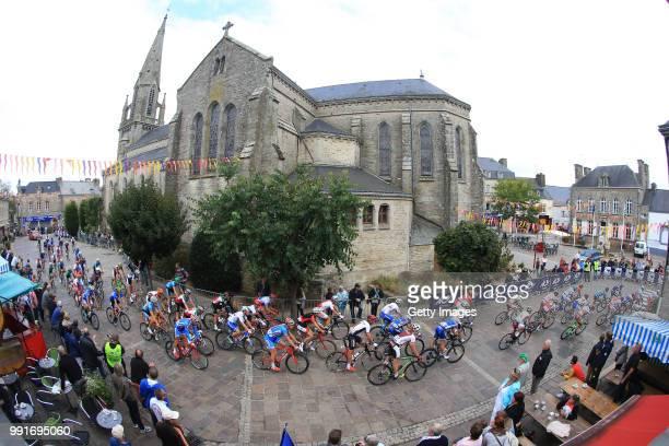 1St European Road Championships 2016, Elite Men'S Road Race Landscape, Peloton, Plumelec City, Our Lady Church, Plumelec - Plumelec //