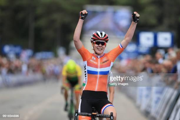 1St European Road Championships 2016, Elite Women'S Road Race Arrival, Anna Van Der Breggen Celebration, Plumelec - Plumelec //