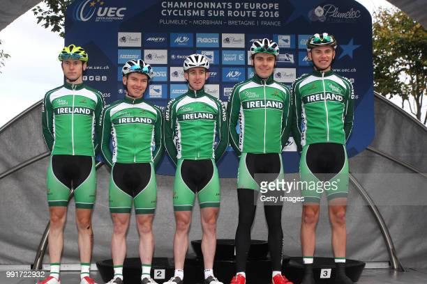 1St European Road Championships 2016 U23 Men'S Road Race Podium Team Ireland Mark Downey /Eddie Dunbar Daire Feeley Matthew Teggart Michael...