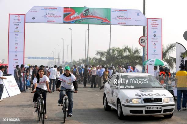 1St India Cyclothon Mumbia 2010Illustration Illustratie Skoda Car Voiture Auto /Tour De Mumbai Rit Etape Ronde Tim De Waele