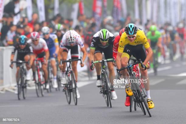 1st TDF Shanghai Criterium 2017 Christopher FROOME Yellow Leader Jersey / Edvald BOASSON HAGEN / Warren BARGUIL Polka Dot Mountain Jersey / Shanghai...