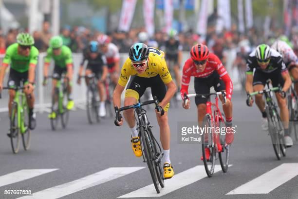 1st TDF Shanghai Criterium 2017 Christopher FROOME Yellow Leader Jersey / Alberto CONTADOR / Edvald BOASSON HAGEN / Shanghai Shanghai / TDF /...