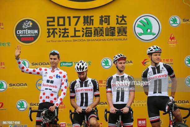1st TDF Shanghai Criterium 2017 Start / Team Sunweb / Nikias ARNDT / Warren BARGUIL Polka Dot Mountain Jersey / Simon GESCHKE / Johannes FROHLINGER /...