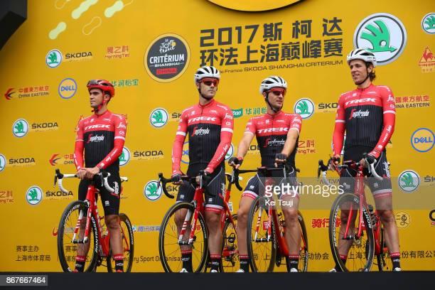 1st TDF Shanghai Criterium 2017 Start / Trek Segafredo / Alberto CONTADOR / Koen DE KORT / Markel IRIZAR ARAMBURU / Edward THEUNS / Shanghai Shanghai...